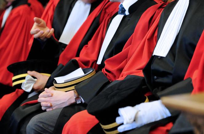 Des magistrats au tribunal de Douai, en 2013.