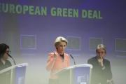 La présidente de la Commission européenne, Ursula von der Leyen, à Bruxelles, le 14 juillet 2021.