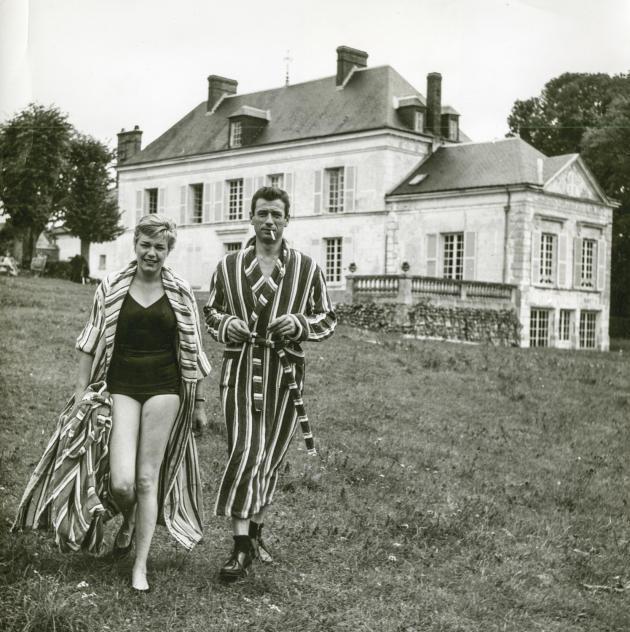Signoret et Montand à Autheuil dans les années 1950-60.