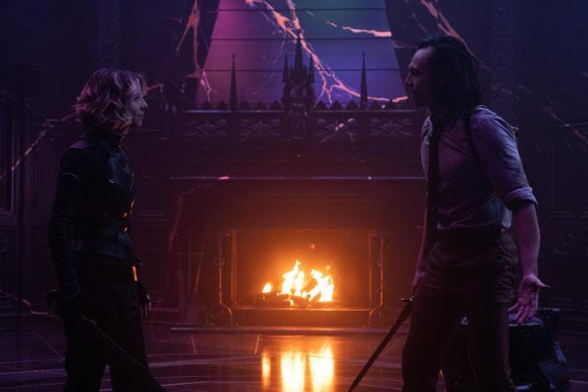 Sylvie (Sophia Di Martino) et Loki (Tom Hiddleston), dans le sixième et dernier épisode de la première saison de «Loki».