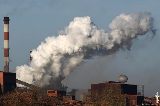 L'usine du géant de l'acier ArcelorMittal à Fos-sur-Mer (Bouches-du-Rhône), en mars 2017