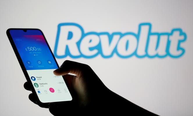 L'application Revolut sur smartphone, en février 2020.