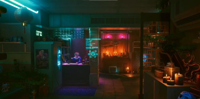 Dans le jeu «Cyberpunk 2077», une ambiance ésotérique et futuriste.