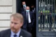 Eric Dupond-Moretti quitte la Cour de justice après son audition, à Paris, le 16 juillet 2021.