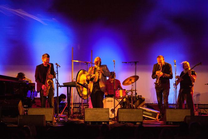 Thomas de Pourquery & Supersonic en concert, le 15 juillet 2021, au festival Marseille Jazz des cinq continents.