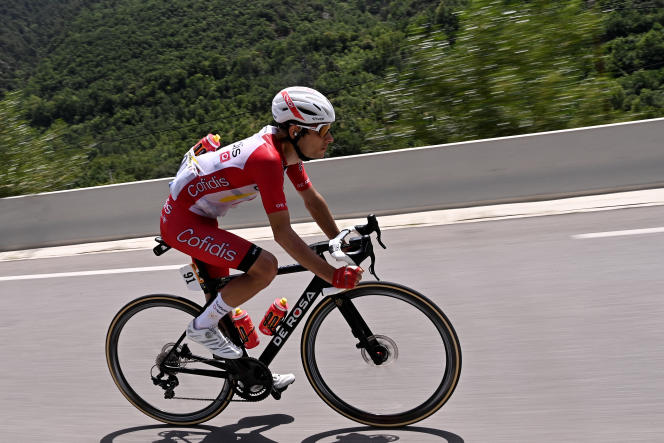 Guillaume Martin, de l'équipe Cofidis, lors de la 15e étape du Tour de France cycliste 2021 entre Céret (Pyrénées-Orientales) et Andorre-la-Vieille, le 11 juillet.