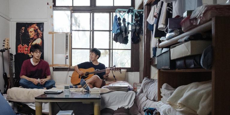 Sho Sasaki and his friend, Ryosuke Hanzawa at Sho's room.