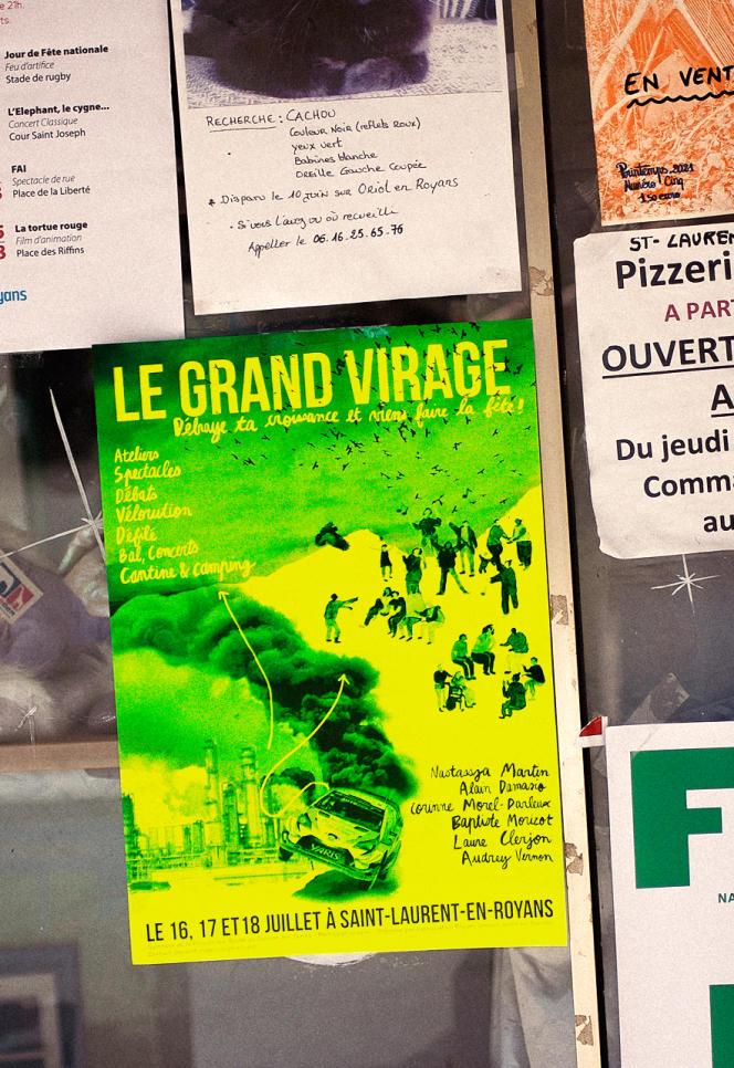 A Saint-Laurent-en-Royans, où a eu lieu la première édition du Grand Virage, un festival qui questionne les activités polluantes.