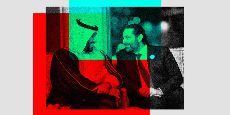This handout photo released by the Saudi Royal Palace shows Crown Prince Mohammed bin Salman(L) of Saudi Arabia chatting with Lebanese Prime Minister Saad Hariri during a summit meeting of the 57-member Organization of Islamic Cooperation (OIC) in the Saudi holy city of Mecca in the early hours of June 1, 2019. - The OIC meeting is the third and final summit hosted by Saudi Arabia this week, aimed at galvanising support among Arab and Islamic nations against arch-rival Iran, which has close ties with Turkey. (Photo by Bandar AL-JALOUD / Saudi Royal Palace / AFP) / RESTRICTED TO EDITORIAL USE - MANDATORY CREDIT