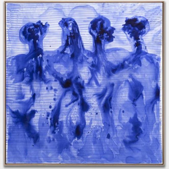 Barthélémy Toguo,« Partage VII», encre sur toile, 2020.