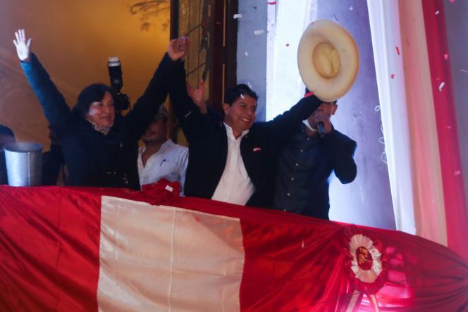 Pedro Castillo au siège de campagne de son parti, à Lima, le 19 juillet 2021.