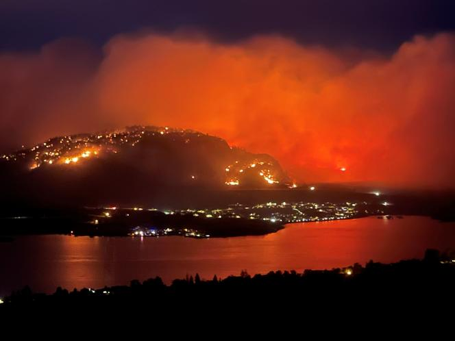 July 20, 2021, a wildfire found from a search of Highway 3 near the town of Osoyus in British Columbia, Canada.