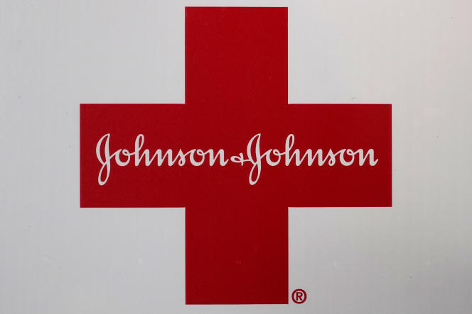 The Johnson & Johnson logo on a first aid kit, in February 2021.