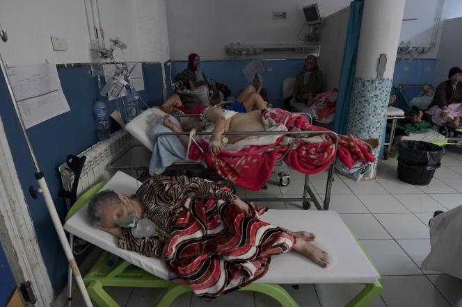 Service des urgences de l'hôpital Charles-Nicolle, à Tunis, le 16 juillet 2021.