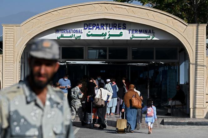 L'aéroport international Hamid-Karzaï, à Kaboul, le 17 juillet 2021.