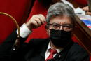 Jean-Luc Melenchon, leader of far-left opposition La France Insoumise (France Unbowed) political party and member of parliament, wearing a protective face mask, attends the questions to the government session at the National Assembly in Paris, France, June 22, 2021. REUTERS/Gonzalo Fuentes