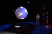 Vue de l'exposition « La Terre en héritage » au Musée des Confluences.