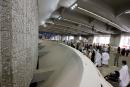 Muslim pilgrims cast stones at pillars symbolizing Satan during the annual Haj pilgrimage, amid the coronavirus disease (COVID-19) pandemic, in Mina, near the holy city of Mecca, Saudi Arabia, July 20, 2021. REUTERS/Ahmed Yosri