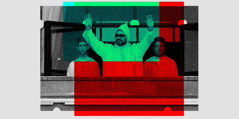 Moroccan King Mohammed VI flanked by his brother Prince Moulay Rachid, right, and the Crown Prince Moulay Hassan, left, waves to the crowd as he arrives to the the opening session in the Morocco Parliament in Rabat, on Friday, Oct. 12, 2018. King Mohamed VI outlined policies for the new parliamentary session. (AP Photo/Abdeljalil Bounhar)
