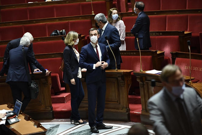 Olivier Véran, à l'Assemblée nationale, le 21 juillet 2021.