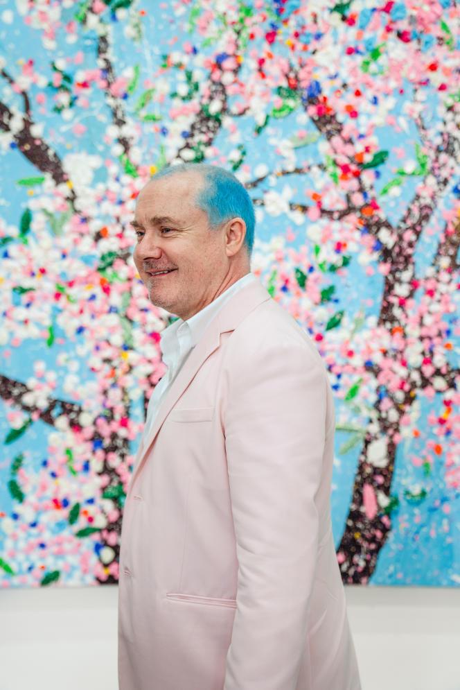 Damien Hirst, en 2021, à la Fondation Cartier, à Paris.