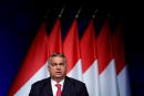 FILE PHOTO: Hungarian Prime Minister Viktor Orban speaks during a business conference in Budapest, Hungary, June 9, 2021. REUTERS/Bernadett Szabo/File Photo