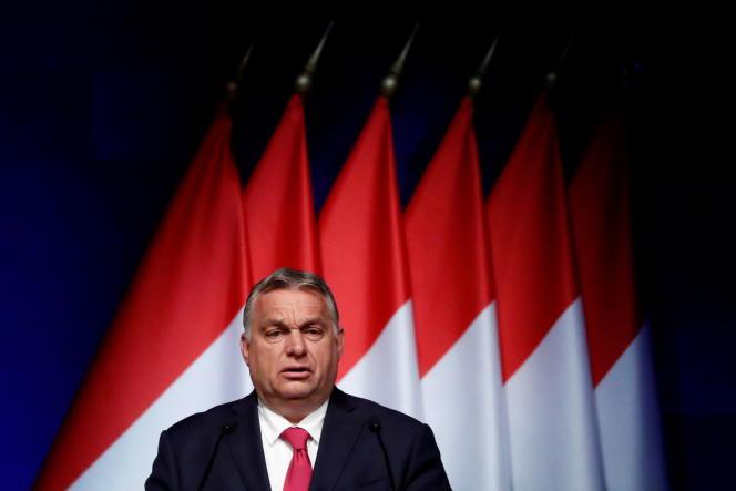 Le premier ministre hongrois, Viktor Orban, lors d'une conférence à Budapest, le 9 juin 2021.
