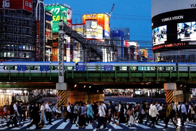 Le 3 juin, à Tokyo. Les JO débutent vendredi 23 juillet, en dépit d'une opinion défavorable à leur maintien compte tenu des risques sanitaires.