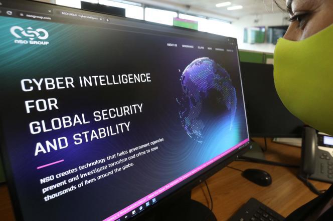 Le site Web de la firme israélienne NSO, à l'origine du logiciel espion Pegasus.