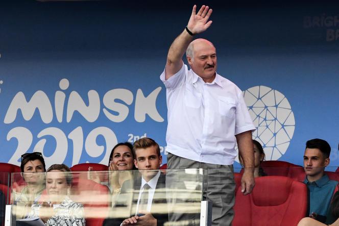 Le président biélorusse, Alexandre Loukachenko, aux Jeux européens de Minsk, le 28 juin 2019.