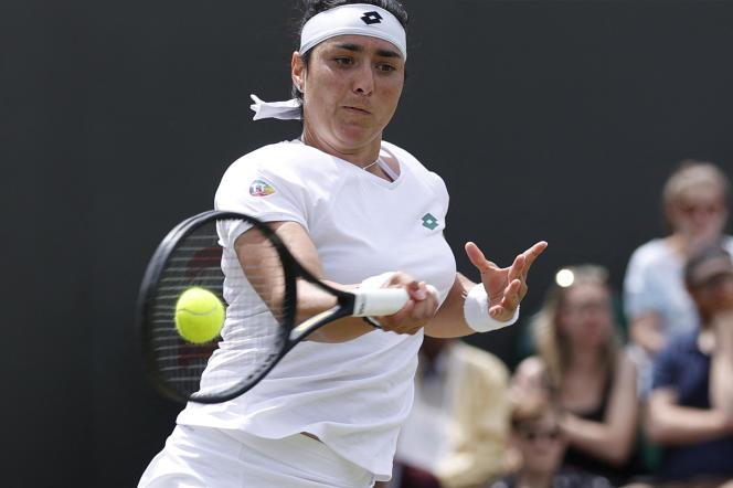 La Tunisienne Ons Jabeur au tournoi de Wimbledon, le 5 juillet 2021.