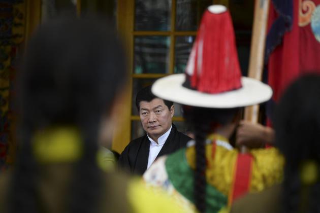 Lobsang Sangay, président de l'administration tibétaine en exil de 2011 à 2021, à Dharamsala (Inde), le 10 mars 2020.