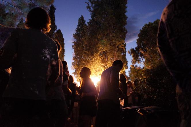 Une soirée à la Villa Noailles,lors du Midi Festival, à Hyères (Var),le 26 juillet 2014