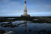 Le phare de Cordouan à marée basse, auVerdon-sur-Mer (Gironde), le 10 juin 2021.