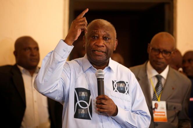 L'ancien président ivoirien Laurent Gbagbo à Abidjan, le 17 juin 2021.