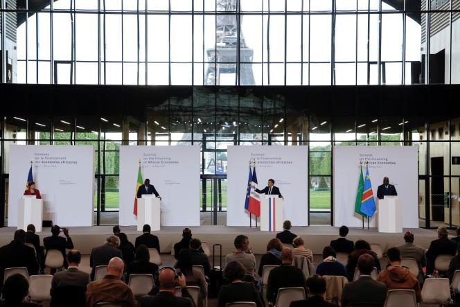 Sommet sur le financement des économies africaines à Paris, le 18 mai 2021.
