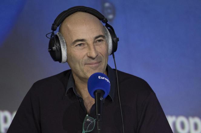 Nicolas Canteloup lors d'une chronique surEurope1, le 20 décembre 2018, à Paris.