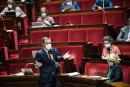 © Julien Muguet pour Le Monde, Paris, France le 21 juillet 2021 - Discussion a l Assemblee nationale du projet de loi relatif a la gestion de la crise sanitaire. Le Ministre des Solidarites et de la Sante, Olivier Veran prend la parole.