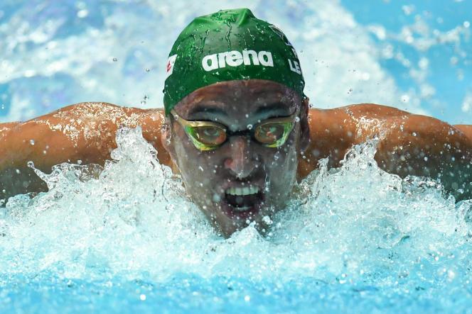 Le nageur sud-africain Chad le Clos à Gwangju, en Corée du Sud, le 26 juillet 2019.