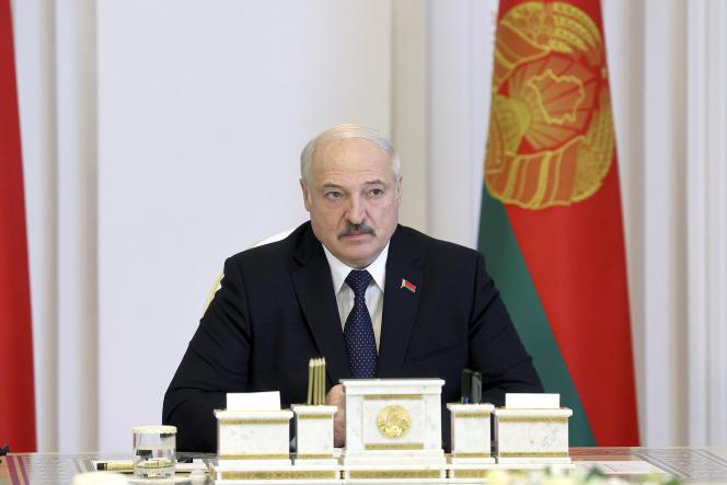 الكساندر لوكاشنكو ، رئیس جمهور بلاروس ، در جلسه كابینه در مینسك ، جمعه 23 ژوئیه 2021.