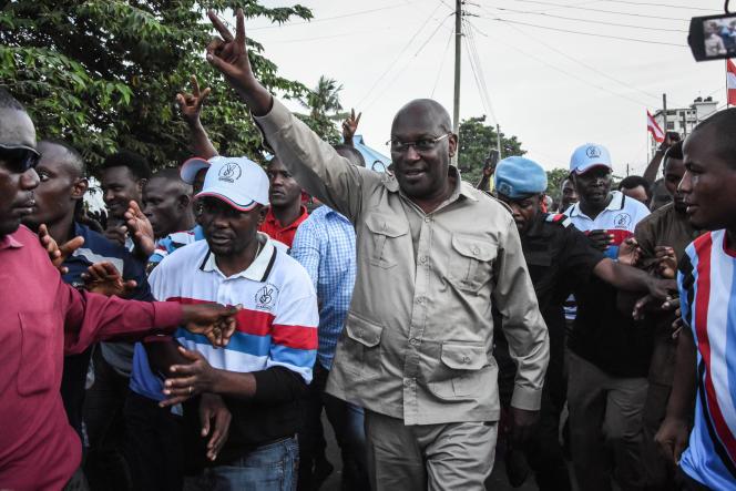 Le président du parti tanzanien d'opposition Chadema, Freeman Mbowe, à Dar es-Salaam, le 14 mars 2020.
