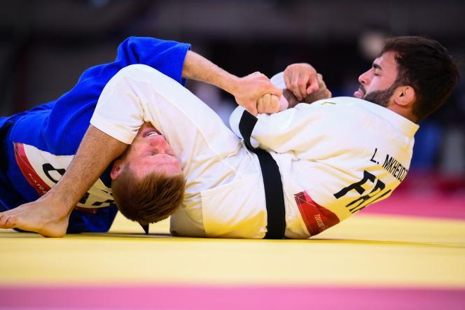 Le Français Luka Mkheidze est à une victoire d'une médaille olympique(-60kg), samedi 24juillet aux Jeux de Tokyo.