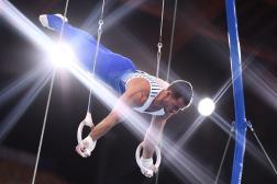 Samir Aït Saïd lors des qualifications au centre de gymnastique d'Ariake, lors des Jeux olympiques de Tokyo, le 24 juillet 2021.