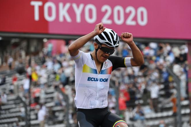 Richard Carapaz offre à l'Equateur la deuxième médaille d'or olympique de son histoire.