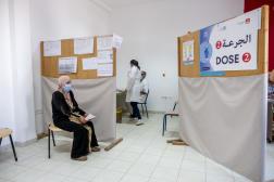 Le centre de vaccination anti-Covid de Menzel Bourguiba, ville du nord de la Tunisie, le 22 juillet 2021.