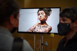 Vidéo de prévention sur le harcélement sexuel diffusée au festival du Printemps de Bourges, dans le Cher, le 23 juin 2021.