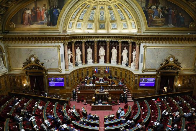 Le Sénat à Paris, le 17 décembre 2020.