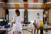 Dans un centre de vaccination éphémère installé dans un camping, à Argelès-sur-Mer (Pyrénées-Orientales), le 23 juillet 2021.