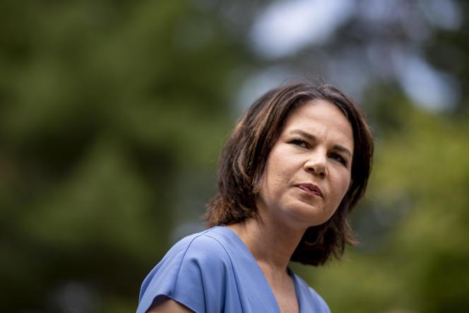 Annalena Baerbock, chef du parti de gauche et candidate à la chancellerie, à Michendorf, en Allemagne, le lundi 26 juillet 2021.