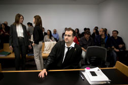 L'avocatEitay Mack, au tribunal de Tel-Aviv, le 16 janvier 2020.